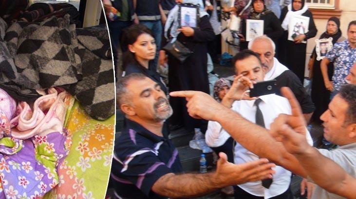 HDP önündeki oturma eyleminde 'battaniye' gerginliği