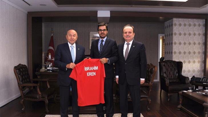 Nihat Özdemir'den TRT Genel Müdürü İbrahim Eren'e ziyaret