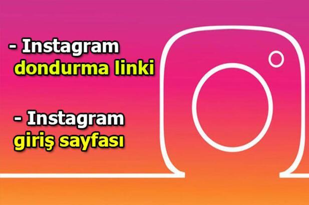Instagram dondurma nasıl yapılır? Instagram dondurma linki haberimizde