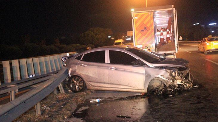 Alkollü sürücü makas attı ortalık savaş alanına döndü