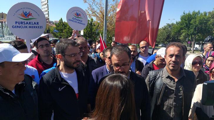 """Bakan Kasapoğlu, """"Beraber Yürüyelim"""" etkinliğine katıldı"""
