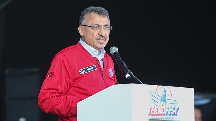 """Cumhurbaşkanı Vekili Oktay """"TEKNOFEST İstanbul""""un kapanış törenine katıldı"""