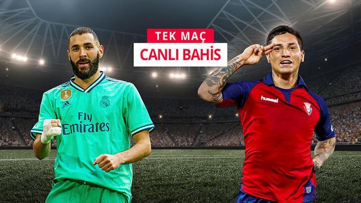 Real Madrid - Osasuna canlı bahis heyecanı Misli.com'da