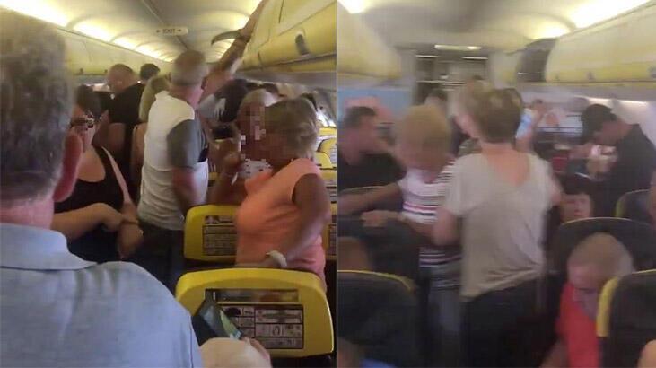 Uçakta kaos! Mahsur kaldılar...