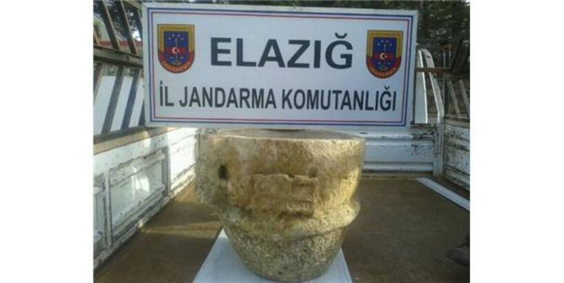 ELAZIĞ'DA İMPARATORUN ÖZEL EŞYA TAŞI ELE GEÇİRİLDİ
