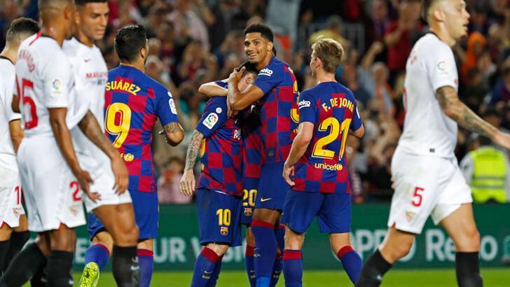 Barcelona, Sevilla'yı farklı yendi