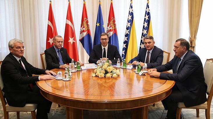 Cumhurbaşkanı Erdoğan, Üçlü Zirve Toplantısı'na katıldı