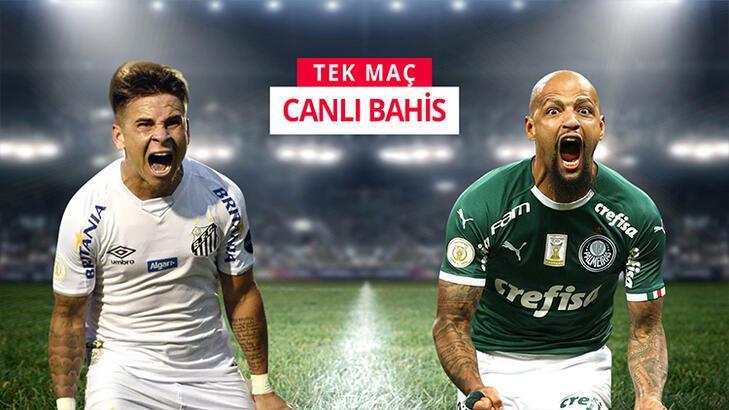 Santos ve Palmeiras maçının canlı iddaa heyecanı misli.com'da