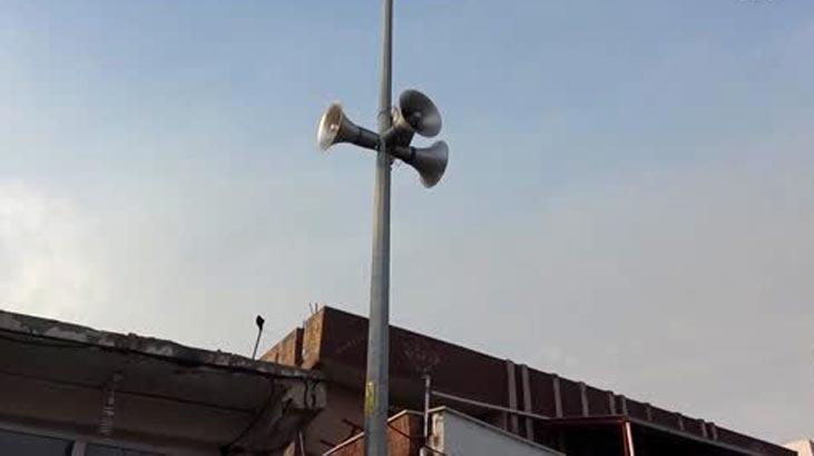 Ceylanpınar Belediyesi'ne ait hoparlörlerden mehter marşları çalınıyor