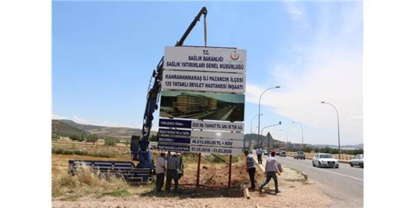 Yeni Pazarcık Devlet Hastanesi'nde İlk Kazma Vuruldu