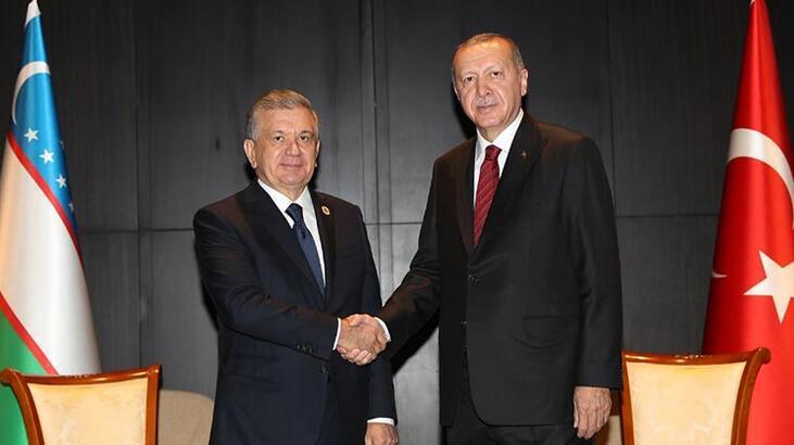 Cumhurbaşkanı Erdoğan, Mirziyoyev ile bir araya geldi