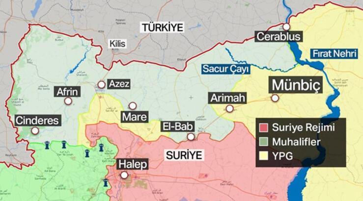 Münbiç nerede? Türk Ordusu ve Suriye Ordusu karşı karşıya gelecek mi?