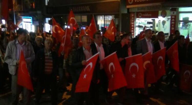 Simav'da Barış Pınarı Harekatı'na destek yürüyüşü