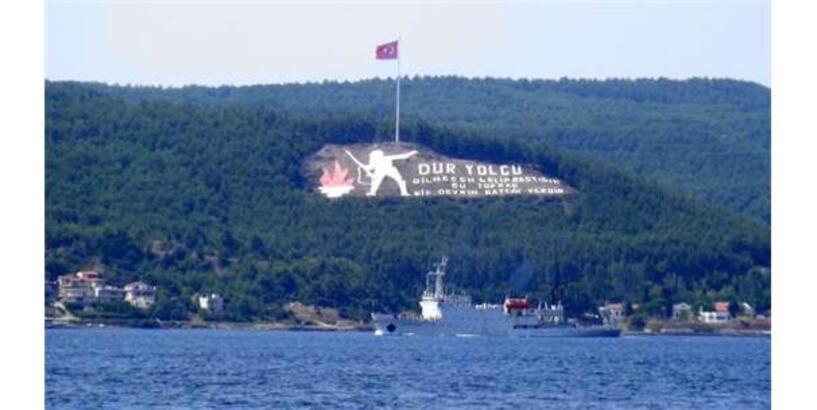 Rus Araştırma Ve İstihbarat Toplama Gemisi, Çanakkale Boğazı'ndan Geçti