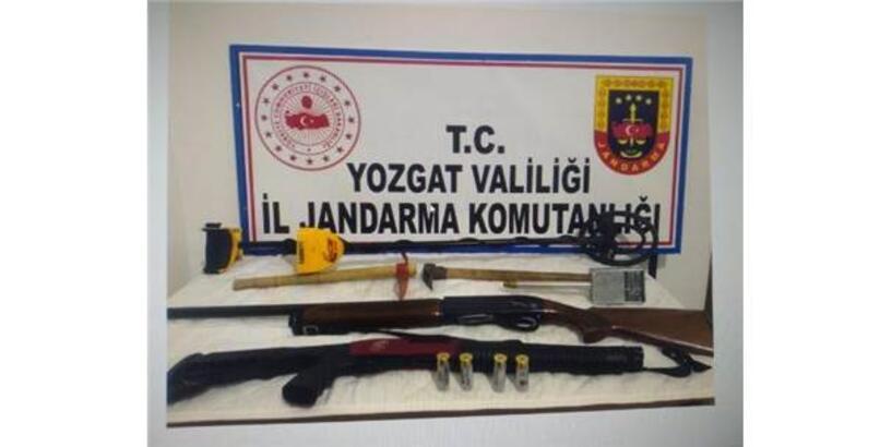 Yozgat'ta Kaçak Kazıya 2 Gözaltı