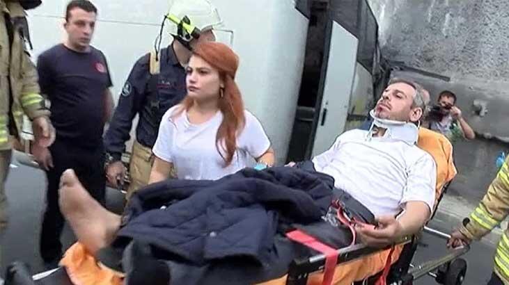 Başakşehir'de servis aracı kaza yaptı!