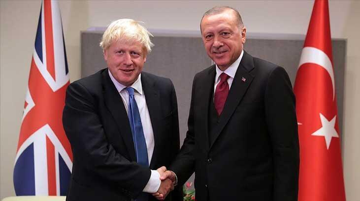 Cumhurbaşkanı Erdoğan, İngiltere Başbakanı Johson ile görüştü