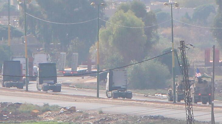 ABD'nin Irak yönünden gelen konvoyu Suriye'de görüntülendi