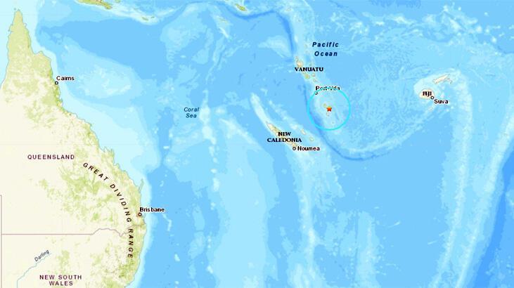 Vanuatu'da 6.4 büyüklüğünde deprem