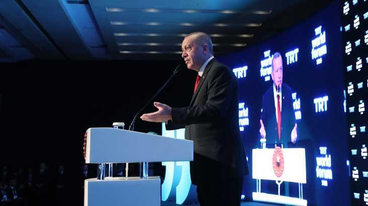 Cumhurbaşkanı Erdoğan'dan TRT World Forumu'nda önemli açıklamalar