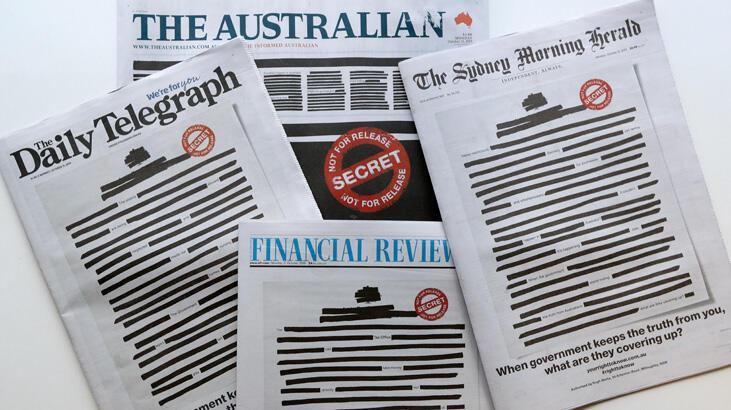 Avustralya gazeteleri protesto için sansürlü manşetle çıktı