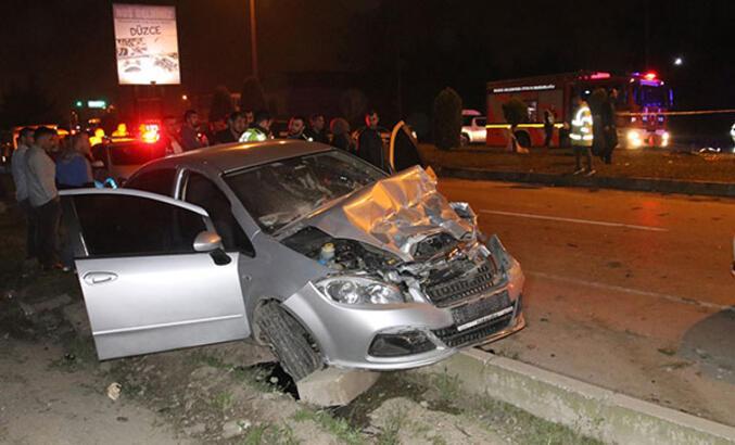 Düzce'de zincirleme kaza: 1 ölü, 4 yaralı