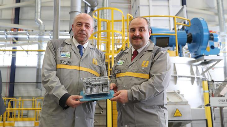 Türkiye'de ilk kez alüminyum motor bloku için test üretimi başladı