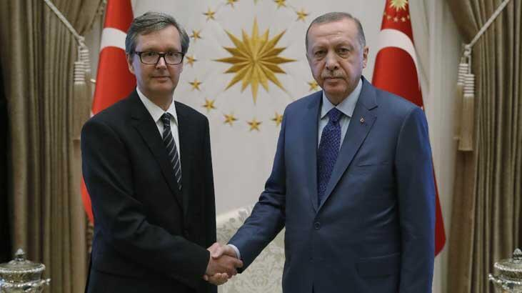 Cumhurbaşkanı Erdoğan, Avusturya'nın Ankara Büyükelçisi Wimmer'ı kabul etti