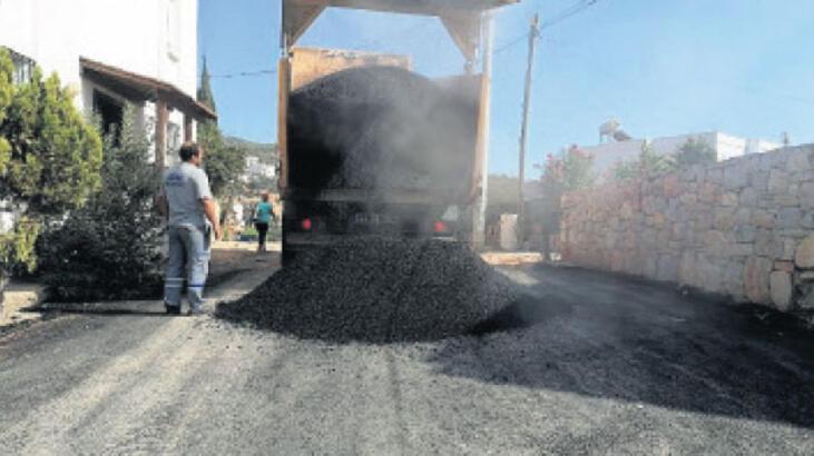 Altı ayda 47 bin ton sıcak asfalt döküldü