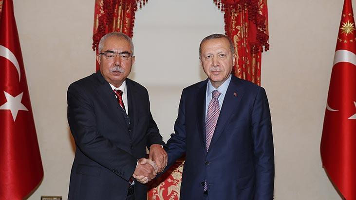 Erdoğan, Afganistan Cumhurbaşkanı Birinci Yardımcısı Dostum'la görüştü