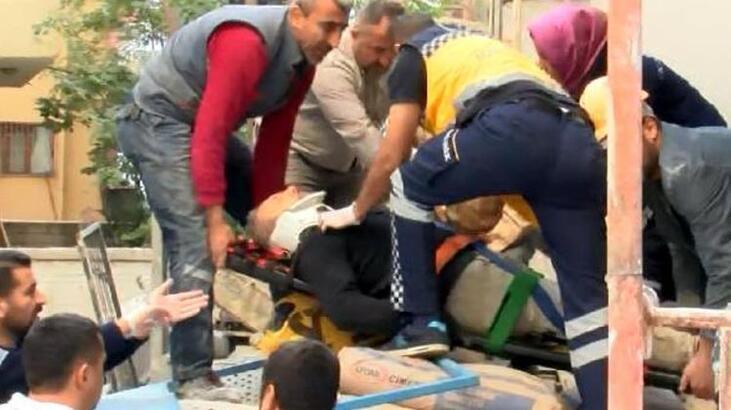 3 kişi 15 metreden yere çakıldı!