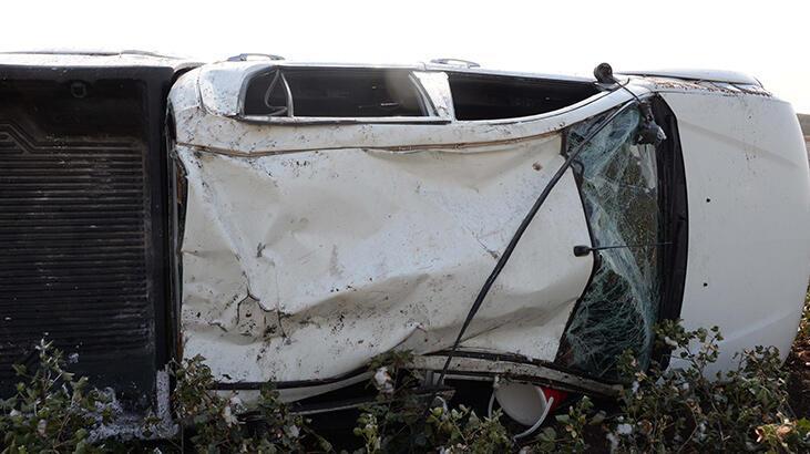 İşçi taşıyan kamyonet takla attı: 5 yaralı