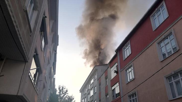 Esenyurt'ta 5 katlı binada yangın paniği!