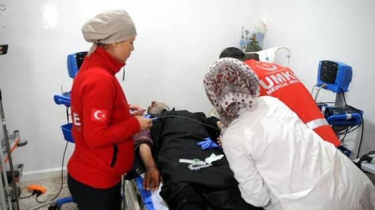 Türk doktorları Tel Abyad'lılara hizmet vermeye başladı