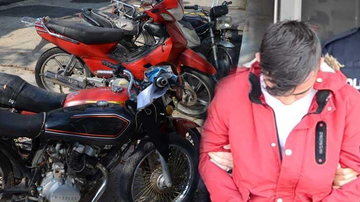 Çaldığı motosikletle gezerken yakalandı