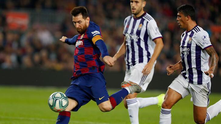 Barcelona, Valladolid'i farklı yendi! Messi resitali...