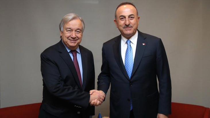 Çavuşoğlu, BM Genel Sekreteri Guterres ile görüştü