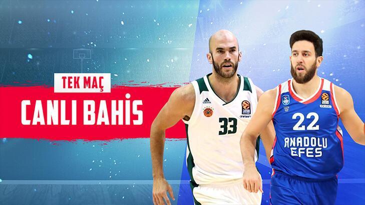 Panathinaikos – Anadolu Efes canlı bahis heyecanı Misli.com'da