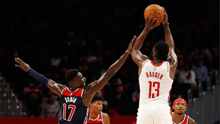 Harden 59 attı, Rockets kazandı: 159-158