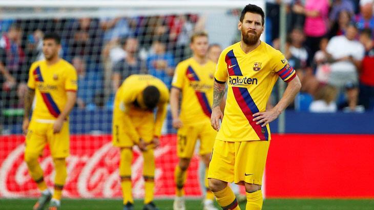 Barcelona, deplasmanda Levante'ye 3-1 yenildi