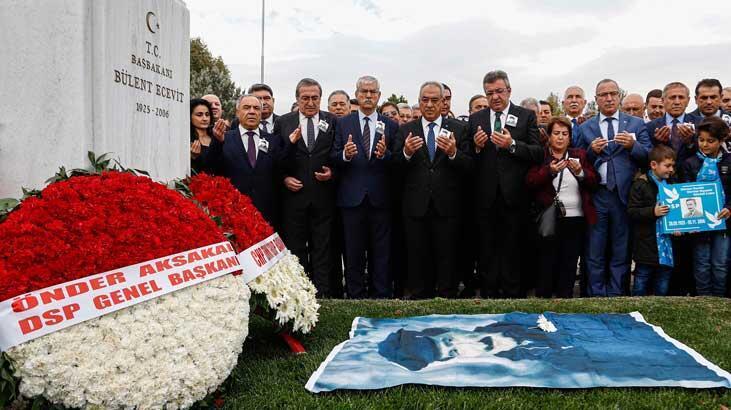 Ecevit, ölümünün 13'üncü yılında mezarı başında anıldı