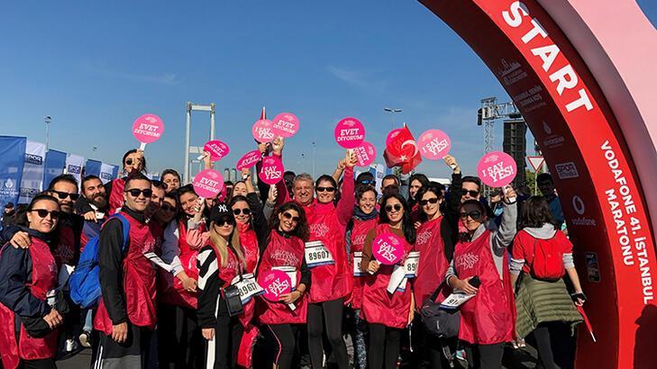 41. İstanbul Maratonu'nda iyi yaşam için koştular!