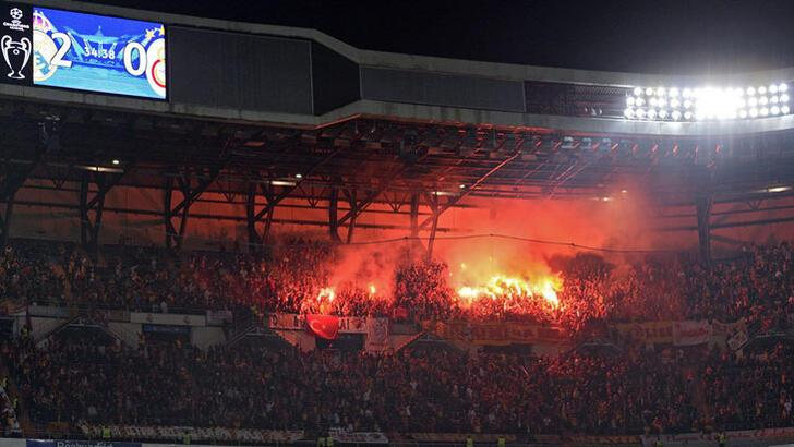 Bernabeu'da Galatasaray'a meşale operasyonu!
