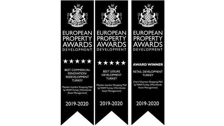 WAM Turkey AVM'lerine yine Avrupa'dan ödül yağdı