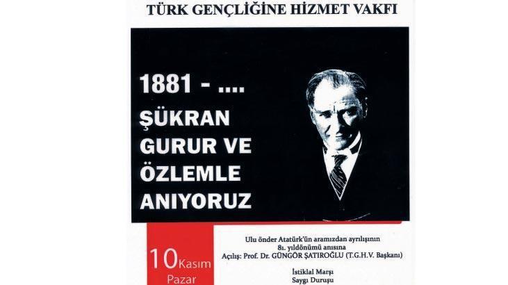 Kadıköy'de Ata'yı anma etkinliği