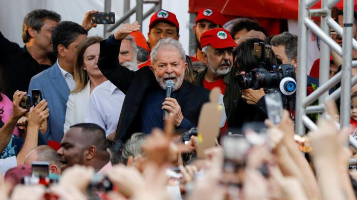 Lula da Silva hapisten çıktı