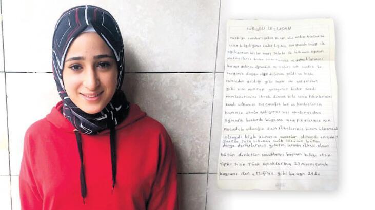 Suriyeli Leyla'dan Ata'ya mektup