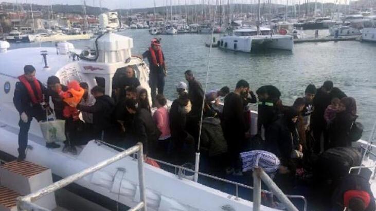 Çeşme'de 2 günde 123 kaçak göçmen yakalandı