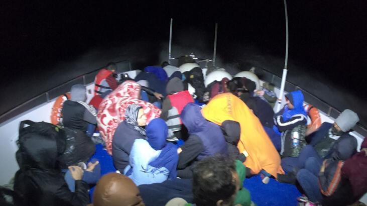 Çanakkale'de 40'ı çocuk, 84 kaçak göçmen yakalandı