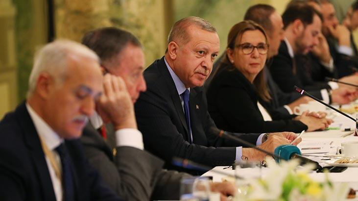 Cumhurbaşkanı Erdoğan ABD'de iş insanları ile bir araya geldi